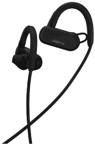 This is an image of the Jabra Elite Active 45e Wireless Sports 2 Earbuds in black color