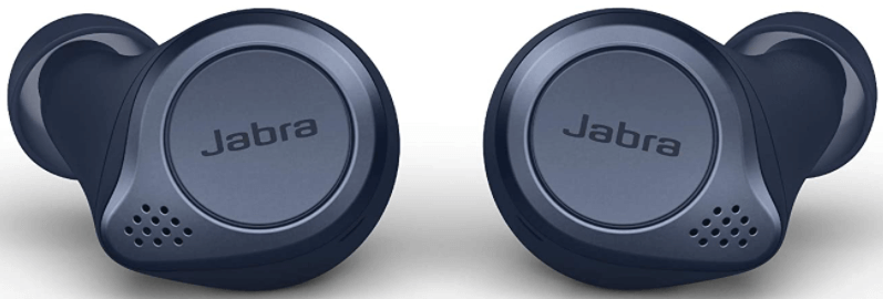 This is an image of the Jabra Elite Active 75t Wireless Bluetooth 2 Earbuds- blue navy