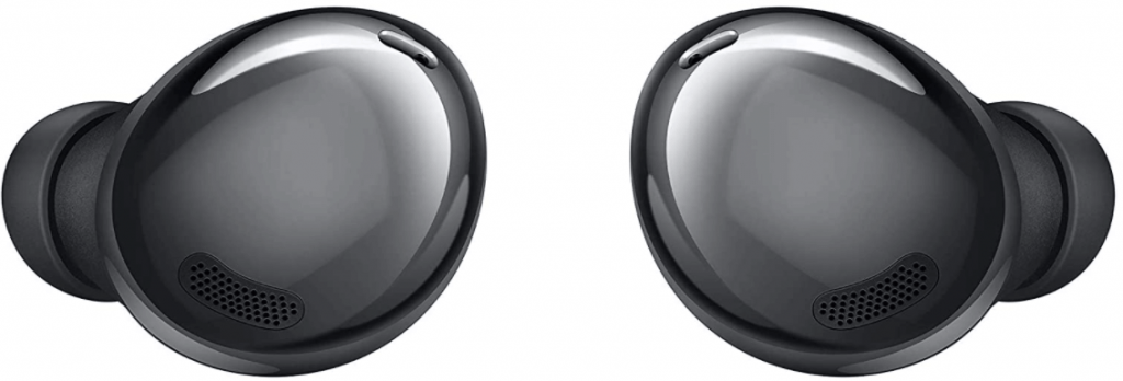 This is an image of a pair black Samsung Galaxy Buds Pro True Wireless Bluetooth Earbuds.