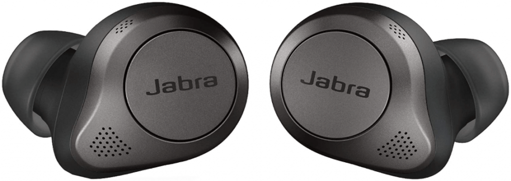 This is an image of the Jabra Elite 85t Wireless Bluetooth 2 Earbuds, black