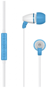 close up image of the LilGadgets BestBuds in-Ear Headphones with Mic for kids-blue