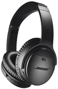 close up view of Bose QuietComfort 35 II headphones, black