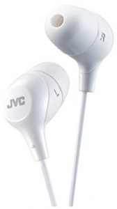 close up view of the JVC Marshmallow Memory Foam 2 Earbuds in White color