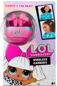 image of the L.O.L. Surprise Wireless Earbuds for Kids-pink