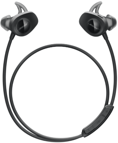 This is an image of the Bose SoundSport, Wireless 2 Earbuds, black