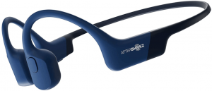 This is an image of the AfterShokz Aeropex wireless Bone Conduction Headphones- blue