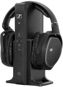 This is an image of Sennheiser RS 175 RF Wireless Headphone System in black color