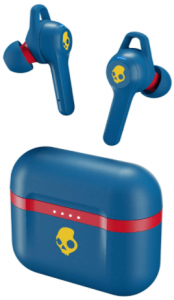 This is an image of the Skullcandy Indy Evo wireless earbud-blue