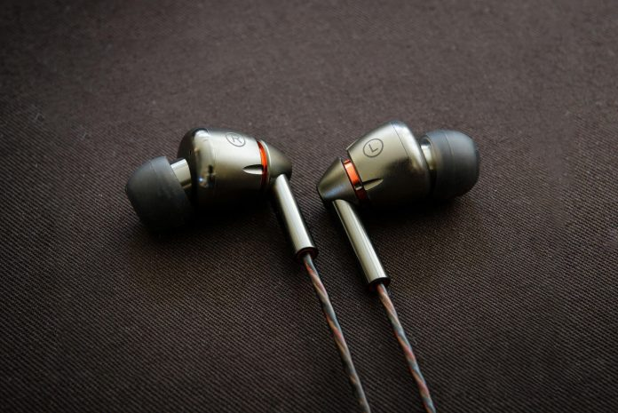 close up image of the 1More Quad Driver earphones