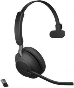 image of the Jabra Evolve2 65 UC wireless headset with flip-up mic- black