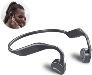 image of the Vidonn F1 Bone Conduction wireless headphones in grey color