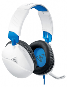 close-up image of the Turtle Beach Recon 70 gaming Headset in white color