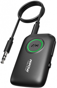 close-up image of the Mpow Bluetooth TV Transmitter Receiver- BLACK