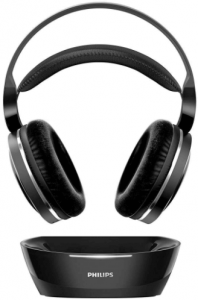 image of the Philips Digital Wireless Headphones for TV with charging dock- black