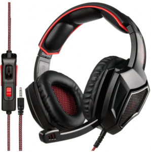 This is an image of the SADES SA920PLUS noise cancelling stereo gaming headset-black