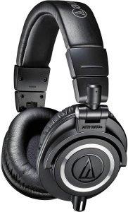 Audio-Technica ATH-M50X Wireless Headphones, black in color