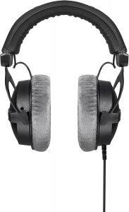 pair of black headphones, the Beyerdynamic Dt 770 Pro 250 Ohms headphones