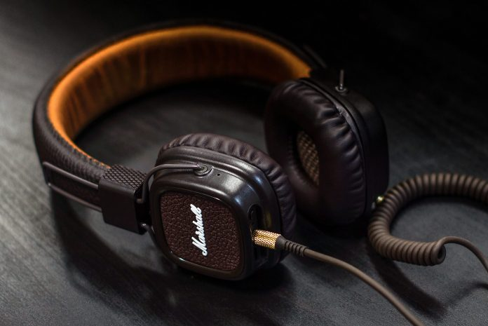 close up image of planar magnetic headphones