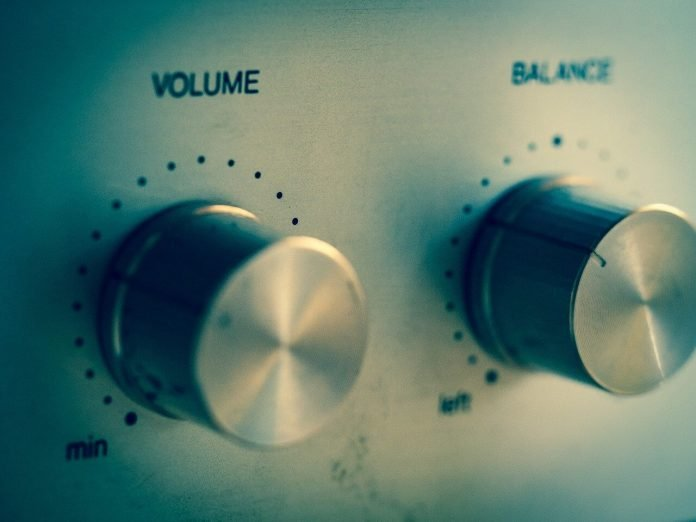Image of a Volume setting adjustment