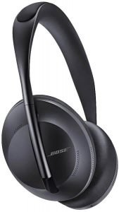 black Bose Noise Cancelling Headphones 700 with white background
