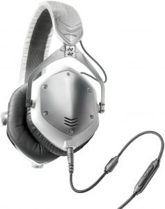 headphones on a white backgroun, V-MODA Crossfade M-100 Over-Ear Noise-Isolating Metal Headphone